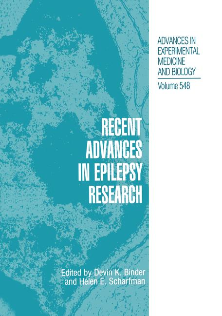 Cover of 'Recent Advances in Epilepsy Research'