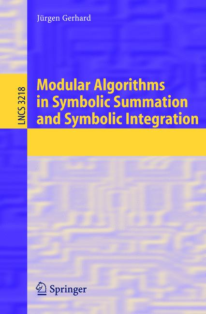 Cover of 'Modular Algorithms in Symbolic Summation and Symbolic Integration'
