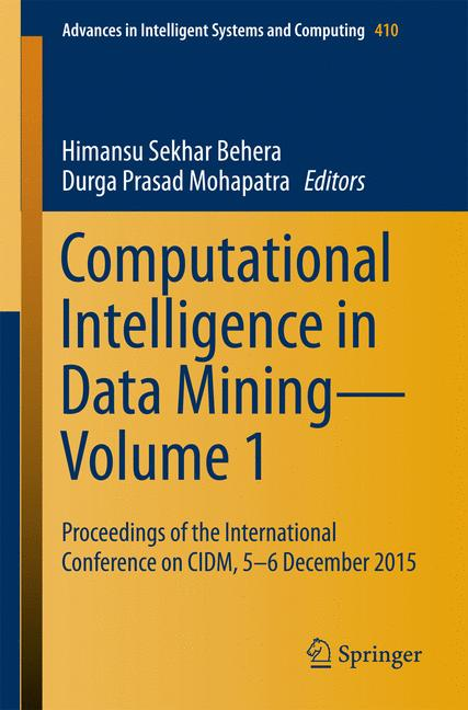 Cover of 'Computational Intelligence in Data Mining—Volume 1'