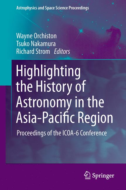 Cover of 'Highlighting the History of Astronomy in the Asia-Pacific Region'
