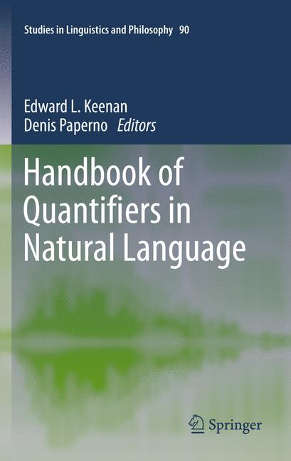 Cover of 'Handbook of Quantifiers in Natural Language'