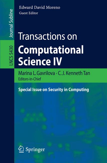 Cover of 'Transactions on Computational Science IV'