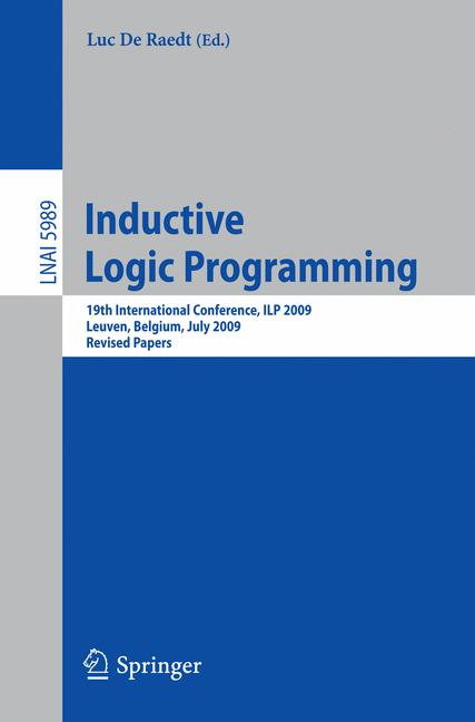 Cover of 'Inductive Logic Programming'