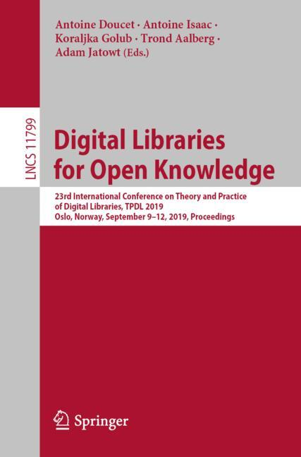 Cover of 'Digital Libraries for Open Knowledge'