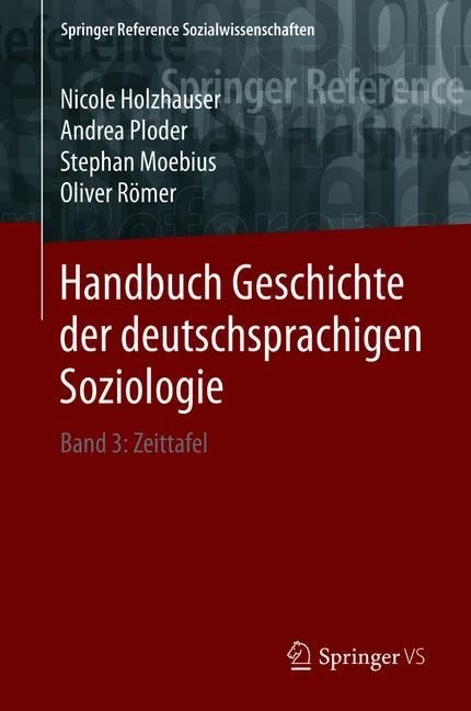 Cover of 'Handbuch Geschichte der deutschsprachigen Soziologie'