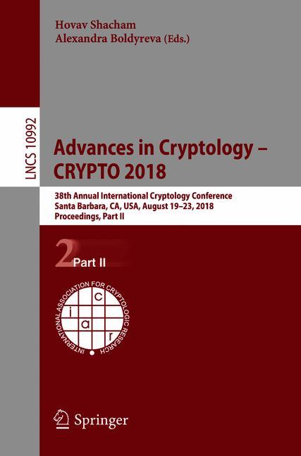 Cover of 'Advances in Cryptology – CRYPTO 2018'