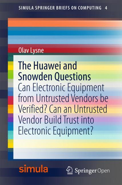 Cover of 'The Huawei and Snowden Questions'