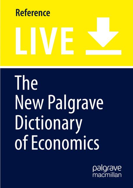 Cover of 'The New Palgrave Dictionary of Economics'