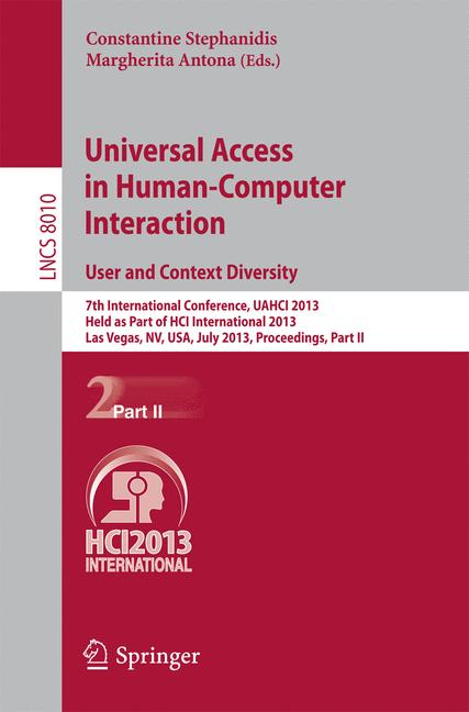 Cover of 'Universal Access in Human-Computer Interaction. User and Context Diversity'