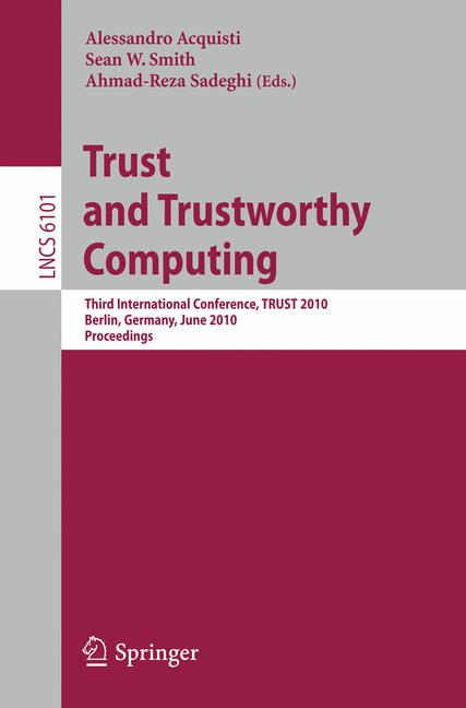 Cover of 'Trust and Trustworthy Computing'