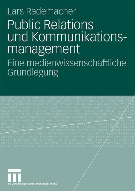 Cover of 'Public Relations und Kommunikationsmanagement'