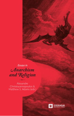 Cover of 'Essays in Anarchism and Religion: Volume 1'