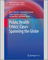 Cover of 'Public Health Ethics: Cases Spanning the Globe'