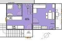tloris apartma objan 1.nadstropje NOVA