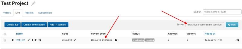 address of live server...