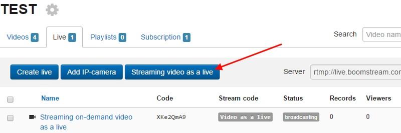 start streaming video...