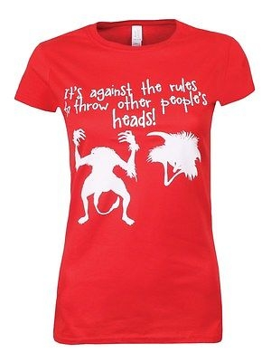 It's Against The Rules Ladies Red T-Shirt