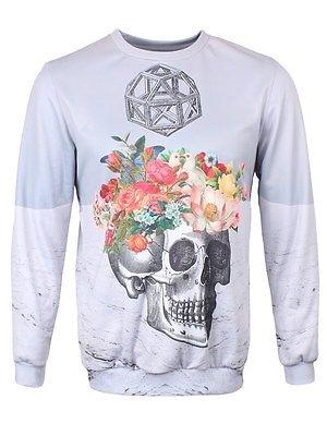 Mr. GUGU & Miss GO Skull & Flowers Sweatshirt