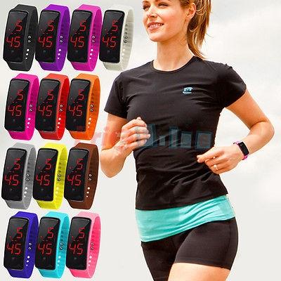 Regali LED digitale Silicone nuovo Sport bracciale orologio da polso donna uomod