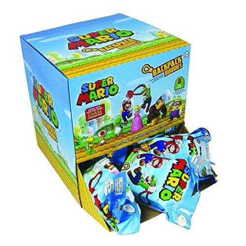 Super Mario Zaino Buddies Mystery Bags Display (24) Paladone Products Portachiavi