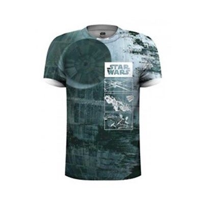 Star Wars Herren T-Shirt Death Star Dye Sub weiß