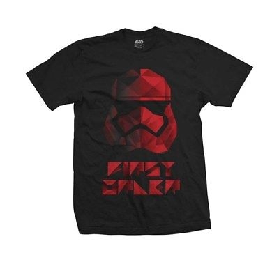 Rockoff Trade Men's Star Wars EP 8 First Order Geo T-Shirt, Black (Black Black), Large (Manufacturer Size:Large)