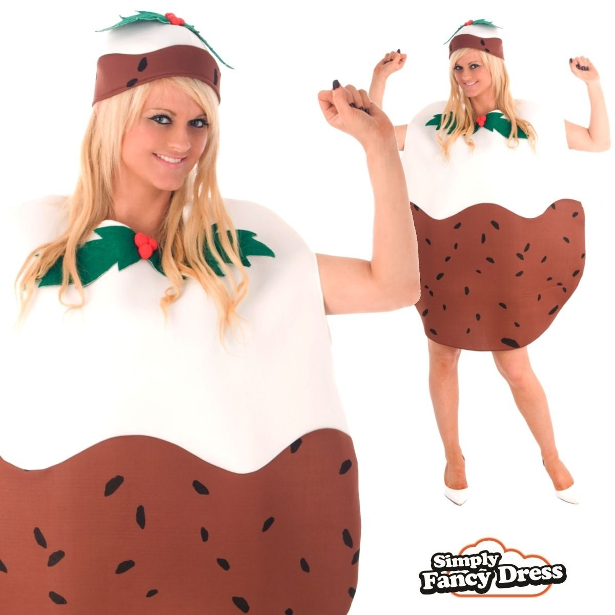 Adult Unisex Mens Ladies Christmas Pudding Xmas Party Funny Fancy Dress Costume