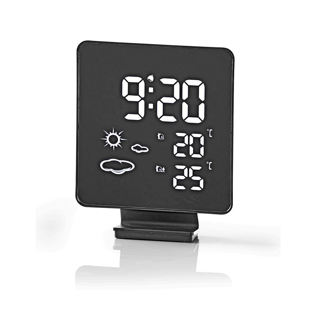 Wetterstation Drahtloser Sensor Wecker Wettervorhersage Reisewecker Temperatur