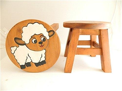 Childs sgabello in legno per bambini u2013 bianco pecora sgabello