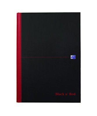 Oxford 400047607 Black n Red - Quaderno rilegato formato A4, a quadretti, cop...