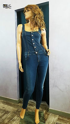buy online lace up in good service Denny Rose tuta jeans art. 63DR12017 collezione primavera-estate 2016