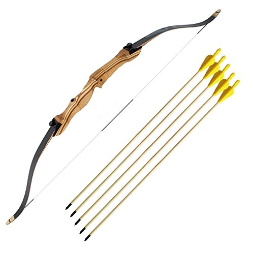 """Area Shopping Kit con arco in legno 54"""" Step 1 Jr Bk 5 Frecce 20/60 libbre royal punta fissa sport"""