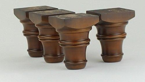 4 piedini per mobili in legno gambe in legno 125 mm altezza