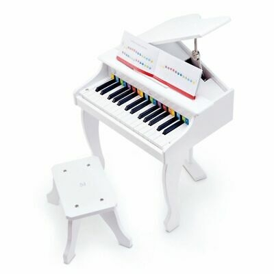 Hape Pianoforte a Coda Deluxe Bianco 30 Tasti Giocattolo Musicale per Bambini