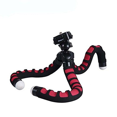Fotopro RM-100-Treppiede flessibile, Octopus per macchina fotografica, colore: nero/rosso