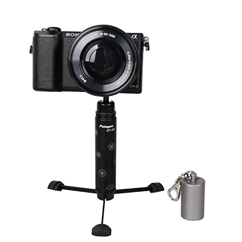 Fotopro Ep-Mini treppiedi 2II portatile, con supporto, per Smartphone, colore: nero