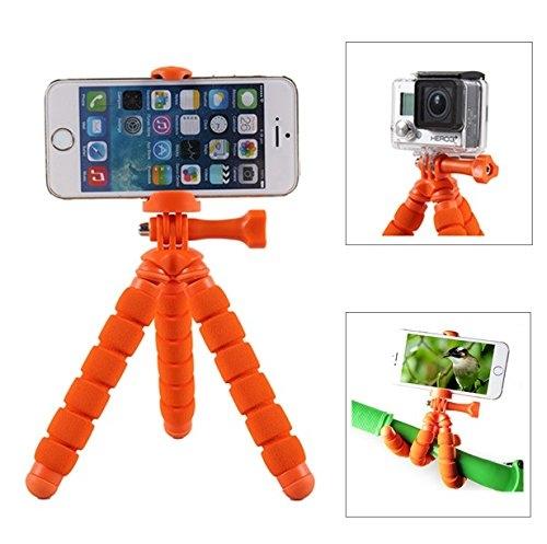 Fotopro RM-95-Mini treppiede flessibile con supporto per Smartphone, colore: arancione