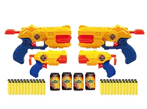 Zuru X-Shot Reflex Revolver TK-6 & Barrel Breaker TK-3 Dart Blaster Combo Pack (TY70645/36129)