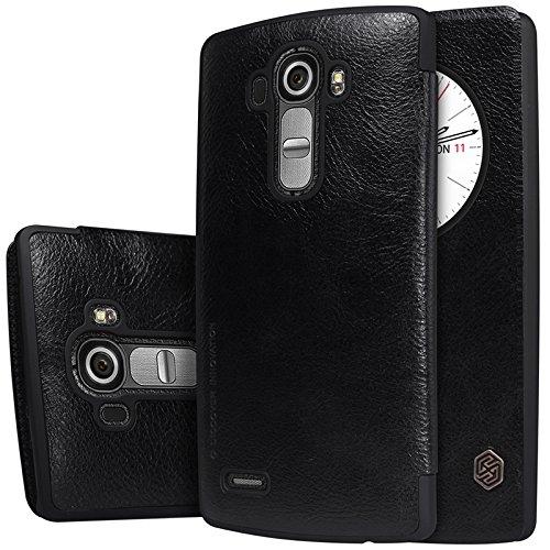 MYLB Slim book-style PU vibrazione del cuoio della copertura della cassa del Custodia case cover telefono per LG G4 smartphone (Nero)