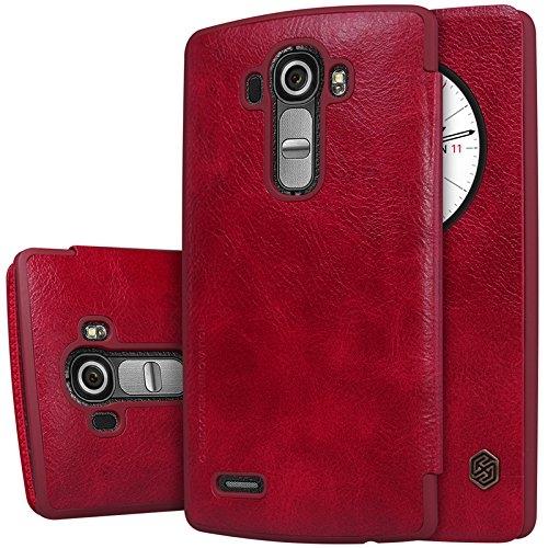 MYLB Slim book-style PU vibrazione del cuoio della copertura della cassa del Custodia case cover telefono per LG G4 smartphone (Rosso)