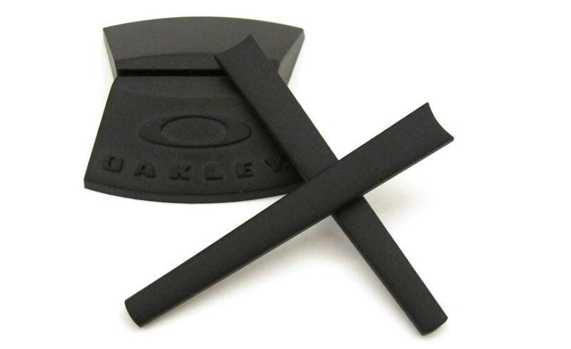 OAKLEY 1034 MUFFLER BLACK EARSOCKS KIT TERMINALI NERO EYEWEAR VISTA OCCHIALE
