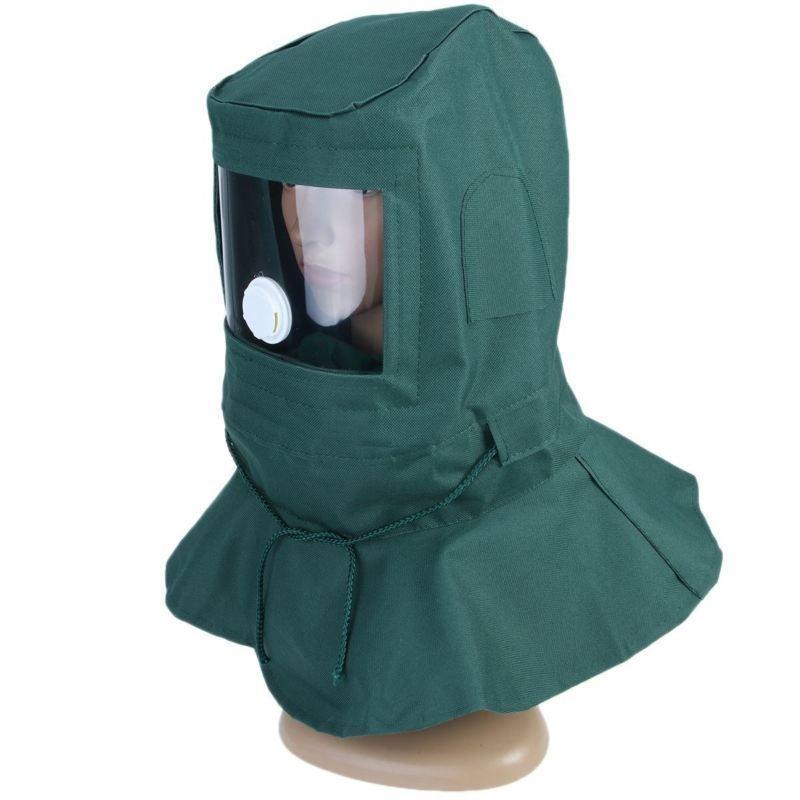 Maschera Sabbiatura Con Cappa Antivento  Maschera Protettiva Industriale