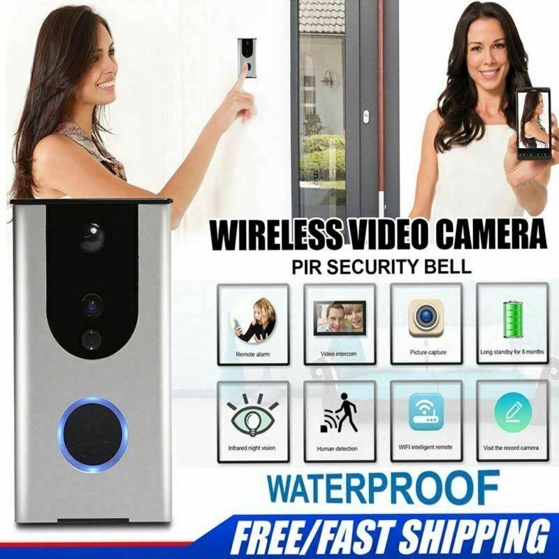 Videocitofono WiFi Wireless Telecamera IP65 Infrarossi Campanello Videocamera