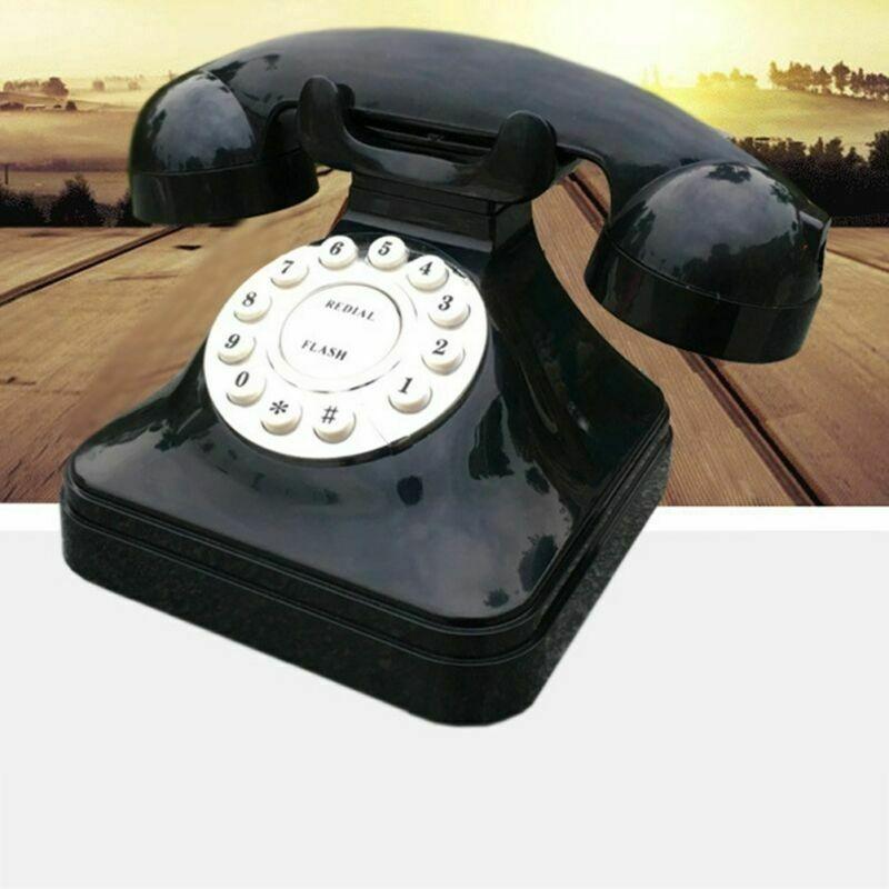 Telefono Fisso Vintage Retrò nero modello Grease Replica Affari Tuoi  Nero