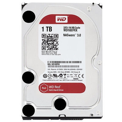 Western Digital WD10EFRX Red 1TB NAS-Festplatte SATA 6Gb/s HDD