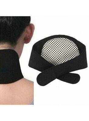 Fascia magnetica massaggio collo cervicale tormalina riscaldamento naturale NERA