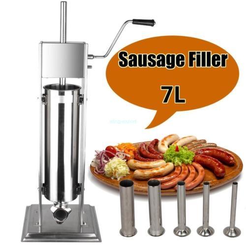 7 litri macchina salsicce salsiccia insaccatrice verticale inox acciaio Neuovo