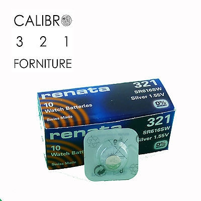 1 batteria RENATA 321 SR616SW x orologi ossido d'argento 1,55V 0%mercury pile