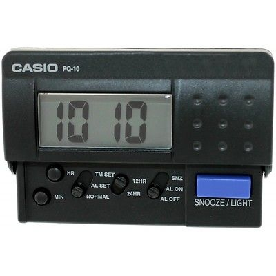 Reloj Despertador Casio PQ10-1R **NUEVO