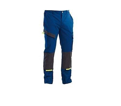 Pantalone da lavoro Linea Powerful colore royal blu/nero